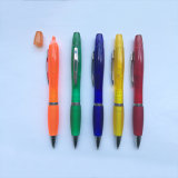 Highlighter Plastic Ball Pen for Promotion with Printing Logo (H200)