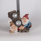 Small Size Resin Garden Gnomes Double Solar Light for Sale