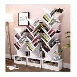 Wooden Storage Unit Display 5 Tier Tree Shape Bookshelf