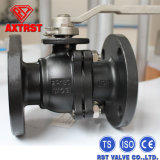 2PC Wcb Carbon Steel API Flanged Ball Valve