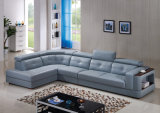 U Shaped Sectional Leather Sofa