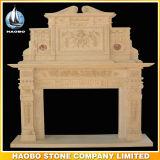 Quality Hand Carved Antique Design Fireplace Ornament Stone Custom Design
