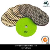 4 Inch Magic Tape Backed Resin Dry Polishing Pads