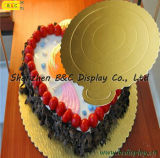 2016 Hot Selling Gold Mono Cake Pastry Tray with SGS (B&C-K023)