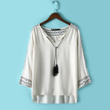 OEM Plus Size Fashion Women Embroideried Blouse