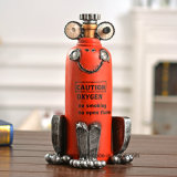 Distressed Antique Finish Red Color Oxygen Carrier Resin Decoration Craft