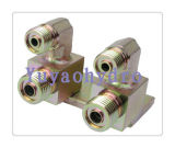 Special Excavator Machinery Weld Assembly Orfs T Tube Connector