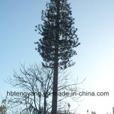 Galvanized Pine Decorating Trees Self Supporting GSM Antenna Pole Tower