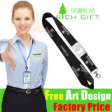 Top Quality Promotion Soft Textile Webbing Lanyard with Custom Logo