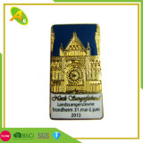 BSCI Colorful Die Stamping Brass Metal Member Badge with Safety Pin Souvenir (214)