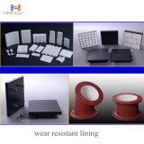 Mineral Industry Use Wear Resistant Rubber 92% High Alumina Ceramic Composite Backing Plate