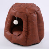 Pet Product PU Folding Cute Warm Pet Cat House Bed