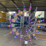 2021 Large Size Stainless Steel Wind Sculpture Kinetic Sculpture Art for City Square Decoration