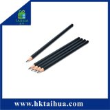 School Supply 7 Inch Black Wood Pencil Without Eraser
