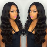 Glueless Full Lace Virgin Malaysian Curly Long Lace Front Wigs
