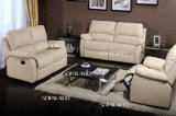 Beige Color Good Price Leather Recliner Sofa