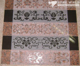 Red Balmoral & Black Absolute Sandblasted Borders for Decoration (CV033)