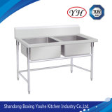 Stainless Steel Sink with Double Compartment/ Bowl Kitchen