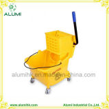 Plastic Cleaning Cart for Hotel and Restaurant Using Cleaning Trolley