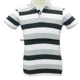 OEM Factory Wholesale Men's Short Sleeve Customized Logo Striped Polo Shirt