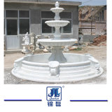 Natural Chinese Granite Marble Stone 3 Tiered Water Ball Fountain for Outdoor Garden & Landcaping