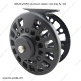 CNC Machined Cut Aluminum Classic Cork Drag Saltwater Fly Reel 02A-CNC-IX-Z