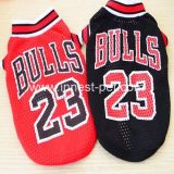 Wholesale Cotton Basketball-Bulls Pet Apparel Doggie Sports Tshirt Dog Clothes