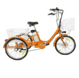 Wholesale 36V 350W Adult Foldable Electric Tricycle for Shopping