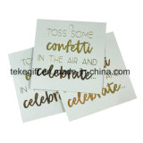 Printing Double Side Clothes String with Tag Paper Hangtag Cards