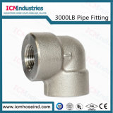 3000 Lb Forged Stainless Steel Threaded Elbow Pipe Fitting