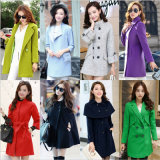 Mix Style Mix Color Fashion Lady′s Woollen Overcoat Stock for Winter (HY1919)