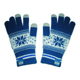 Jacquard iPhone Touchscreen Knitted Glove with Snowflake (JRAC055)