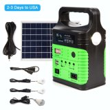 Solar Panel Home DC System Kit 6-USB 10W Solar Device Charger with 3-LED Home Lighting System