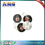 Plastic Coin Token RFID Disc Sticker Tag with 3m Adhesives