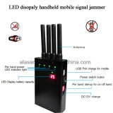 4bands LED Handheld Mobile Signal Jammer LED Display Battery Capacity