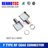RF Coaxial F Female Connector with Shielding