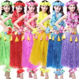 Hawaiian Hula Dance Costume Ballet Performance Cosplay Flower Garland Children Adults Birthday Tropical Costume Party, Events, Celebrate Decoration Dress Skirts