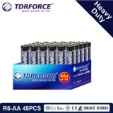 1.5V China Manufacture Heavy Duty Battery for Smoke Detetor (R6-AA 48PCS)