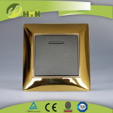 Ce/TUV/BV Certified European Standard Metal Zinc Wall Switch