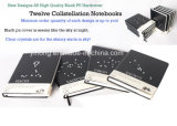 Latest Design Tweleve Collstellation Black PU Notebooks Agenda