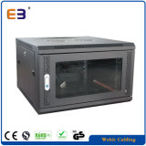 19 Inch Installation Wall Mounted Data Rack Cabinet with Window Glass Door
