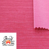 Nylon Polyester Spandex Blended Knitted Fabric Striped Elastic Knitting Fabric