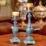 Durable and Cheap Blue Polyresion Candle Sticks for Home Decoration