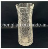 Ice Crackle Glass Vase (V-029)