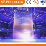 Indoor Colorful Digital Wall Water Curtain Graphic Waterwall Fountain