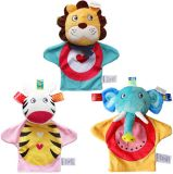 Fun Express Plush Happy Kids Hand Puppets Baby Comforting Role Play Hand Puppet