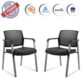 Mesh Arm Stack Chairs with Upholstered Fabric Seat for Church School Reception 2 Pack (XDD1D)