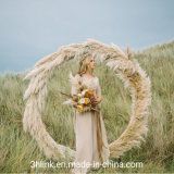Pampas Grass Moon Gate Woodland Wedding with Two Grooms