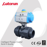 True Union Ends PVC Pneumatic Ball Valve