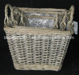 Wicker Flower Vase